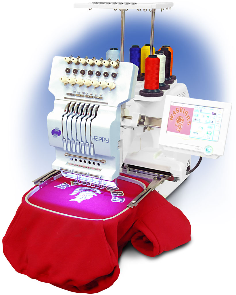 happy commercial embroidery machine