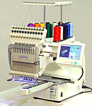 Happy Voyager 2 1-head embroidery machine with touch screen